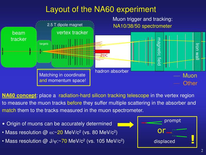 Layout of the na60 experiment