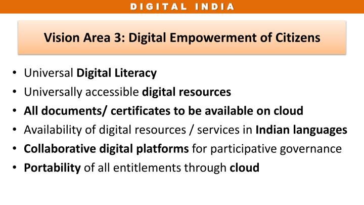 Vision Area 3: Digital Empowerment of Citizens