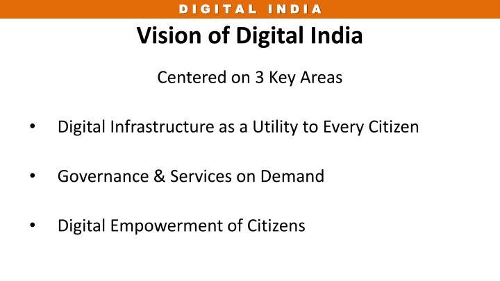 Vision of Digital India