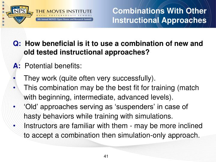 Combinations With Other Instructional Approaches