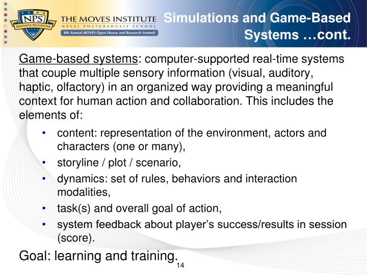 Simulations and Game-Based Systems