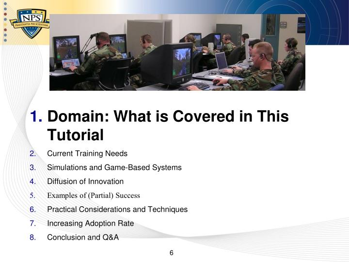 Domain: What is Covered in This Tutorial