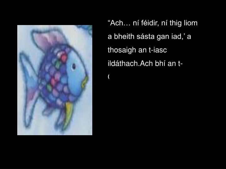 """""""Ach… ní féidir, ní thig liom"""