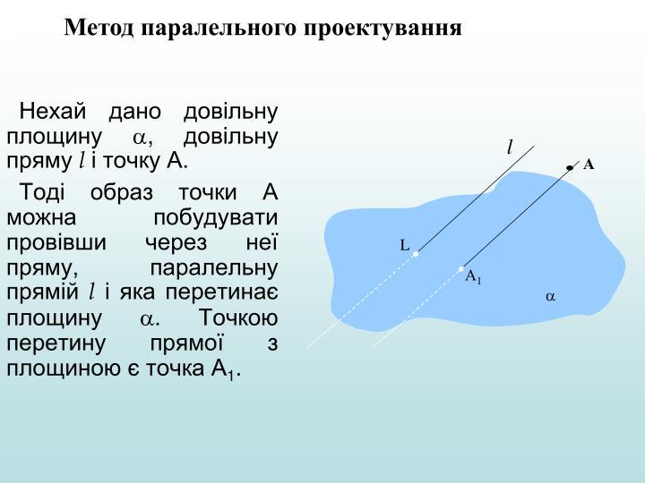 Метод паралельного проектування