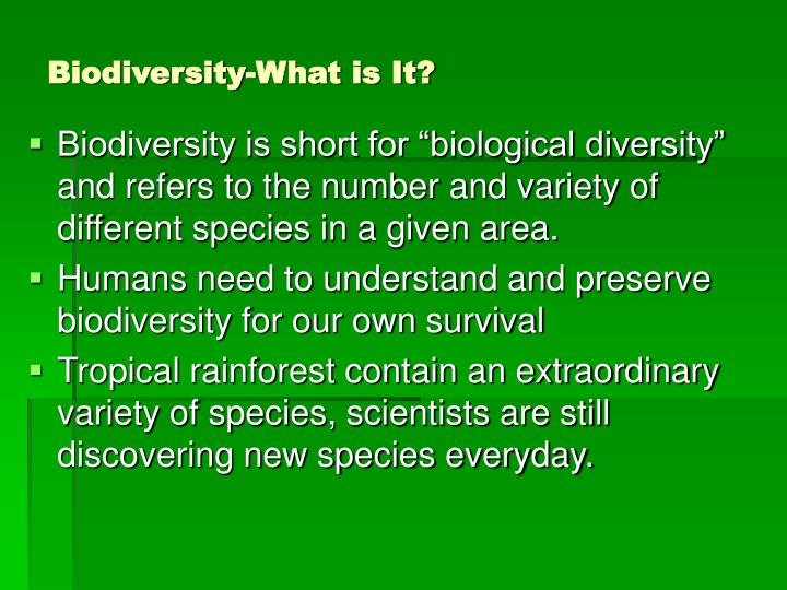 Biodiversity what is it