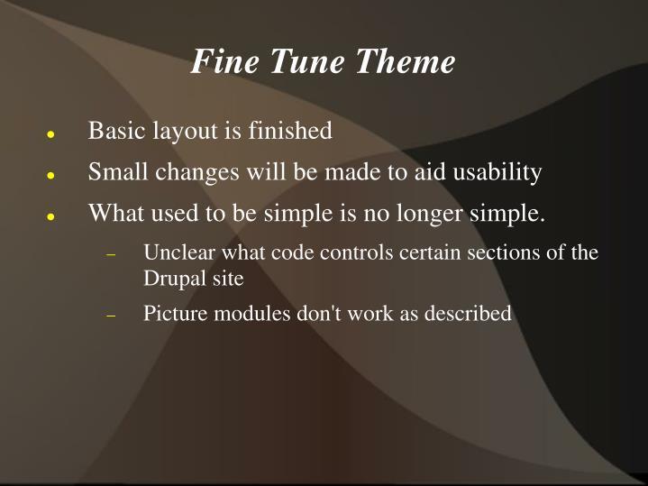 Fine Tune Theme
