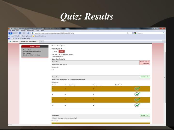 Quiz: Results