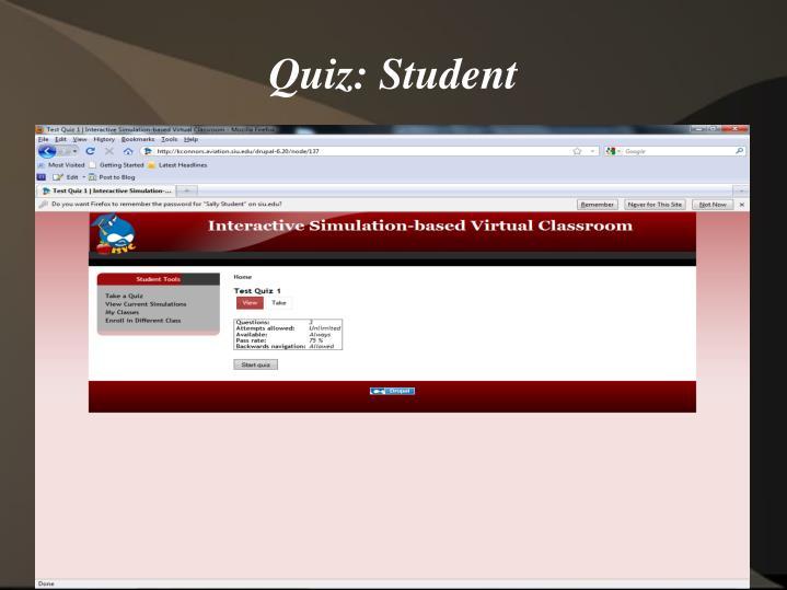Quiz: Student