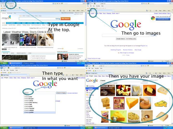 Type in Google