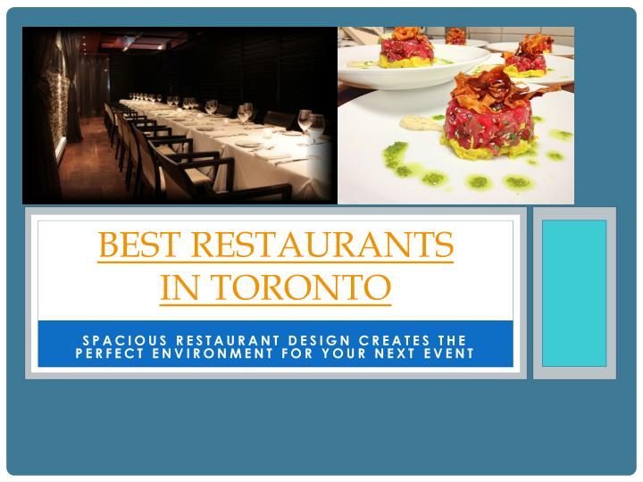 Best restaurants in toronto