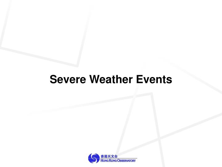 Severe Weather Events