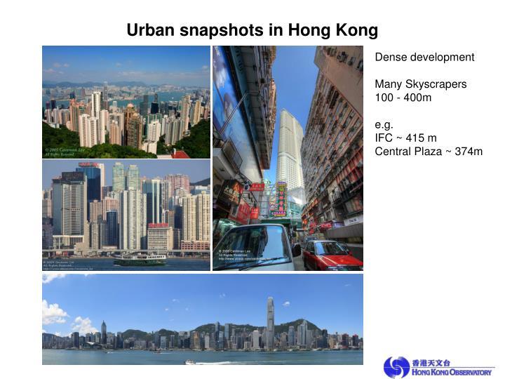 Urban snapshots in Hong Kong
