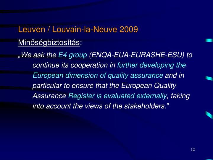 Leuven / Louvain-la-Neuve 2009