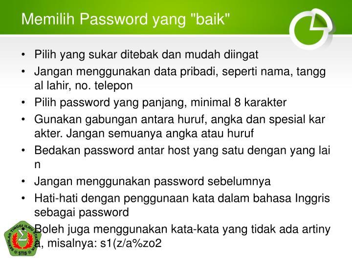 "Memilih Password yang ""baik"""