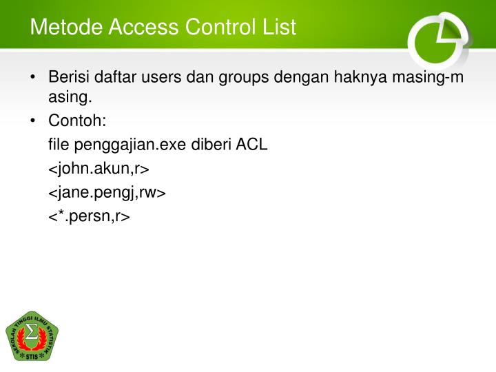 Metode Access Control List