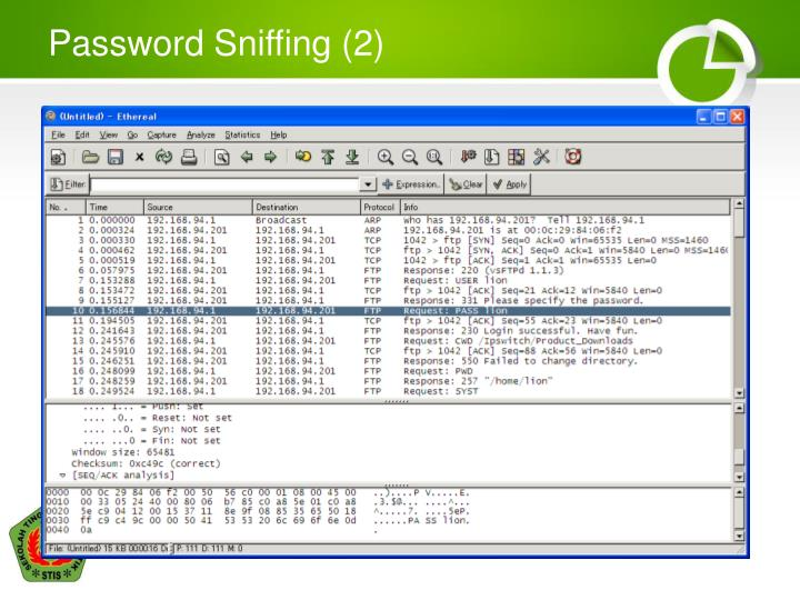 Password Sniffing (2)