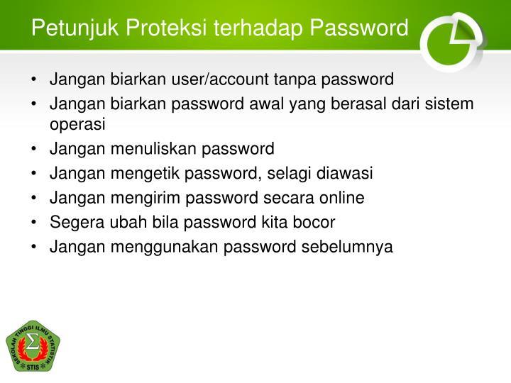 Petunjuk Proteksi terhadap Password