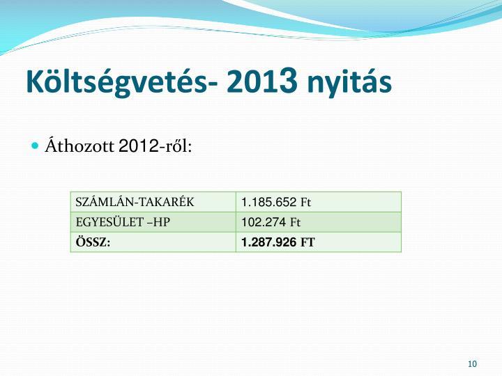 Költségvetés- 201
