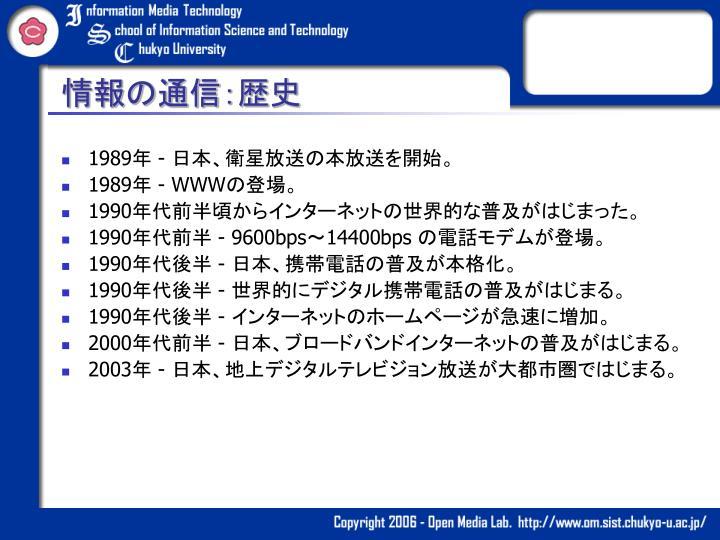 情報の通信:歴史