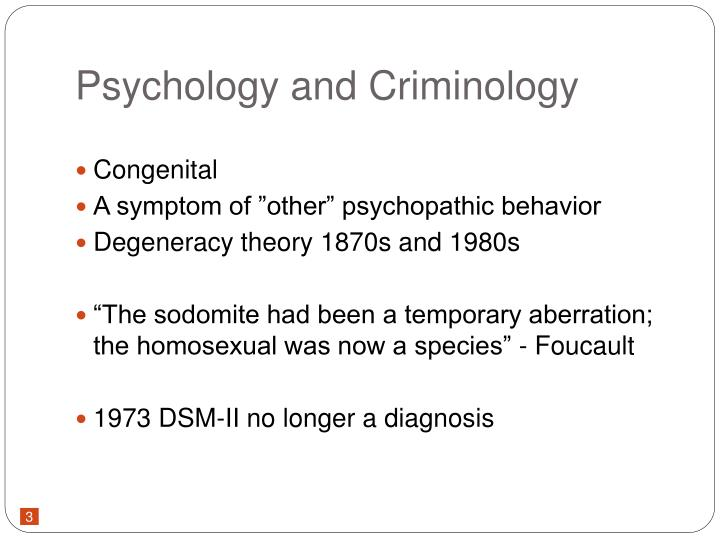 Psychology and Criminology