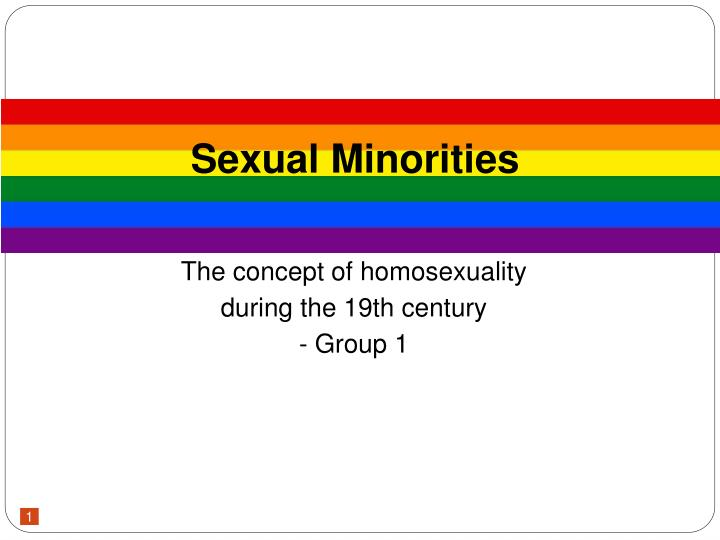 The concept of homosexuality