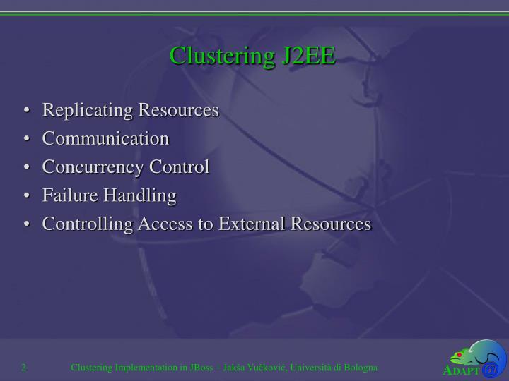 Clustering J2EE