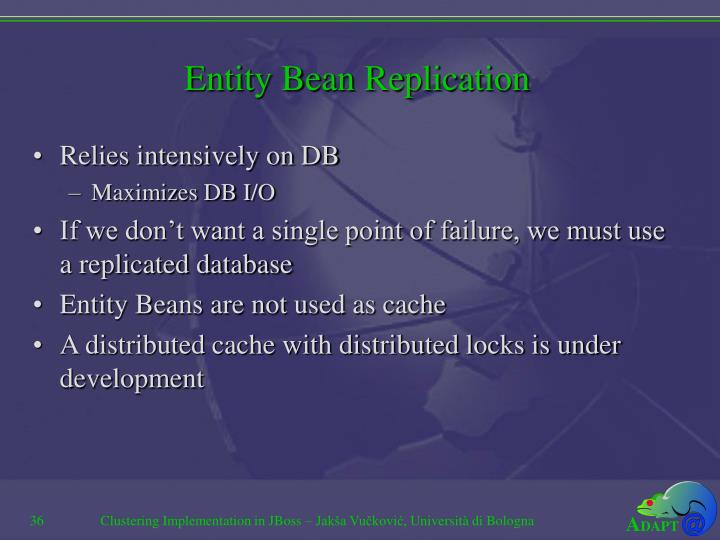 Entity Bean Replication