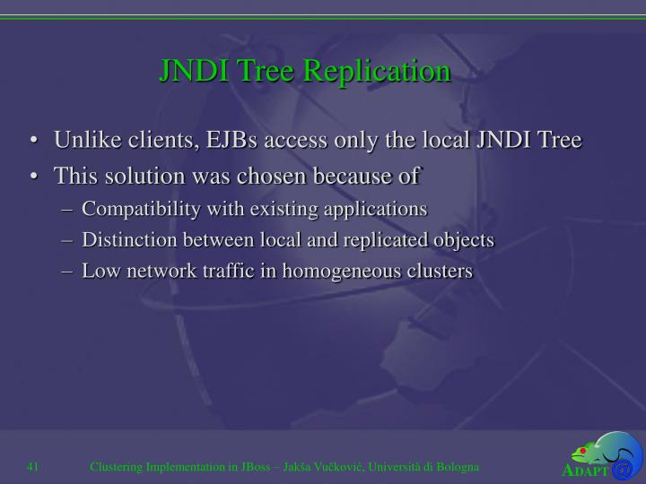 JNDI Tree Replication