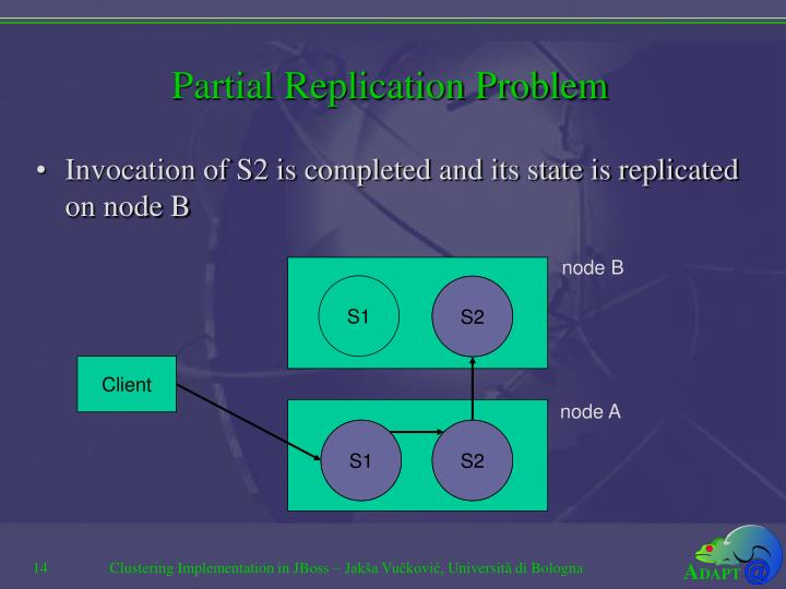 Partial Replication Problem