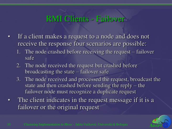 RMI Clients - Failover