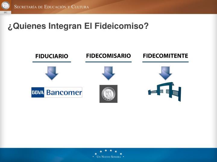 ¿Quienes Integran El Fideicomiso?