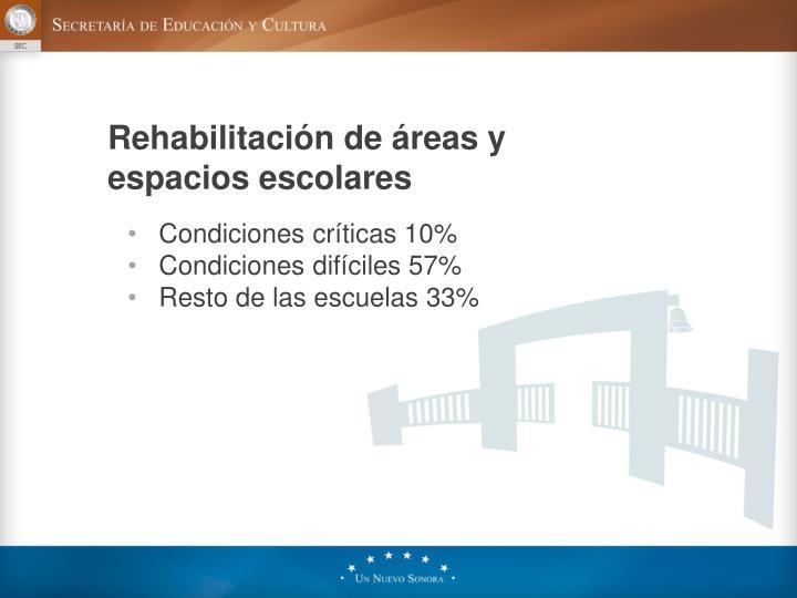 Rehabilitación de áreas y