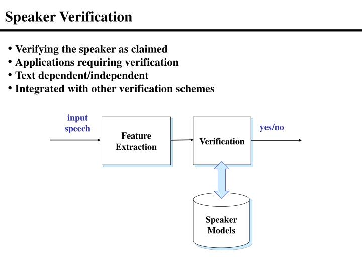 Speaker Verification