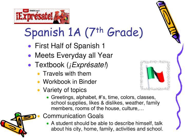 Spanish 1A (7
