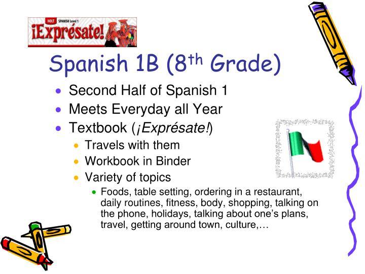 Spanish 1B (8