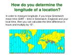 how do you determine the longitude of a location