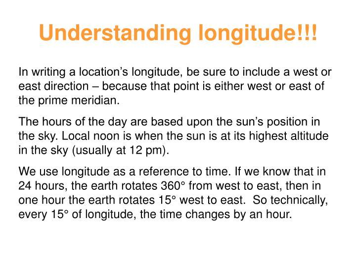 Understanding longitude!!!