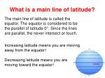 what is a main line of latitude