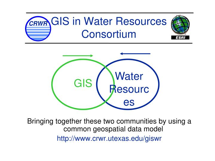 Bringing together these two communities by using a common geospatial data model