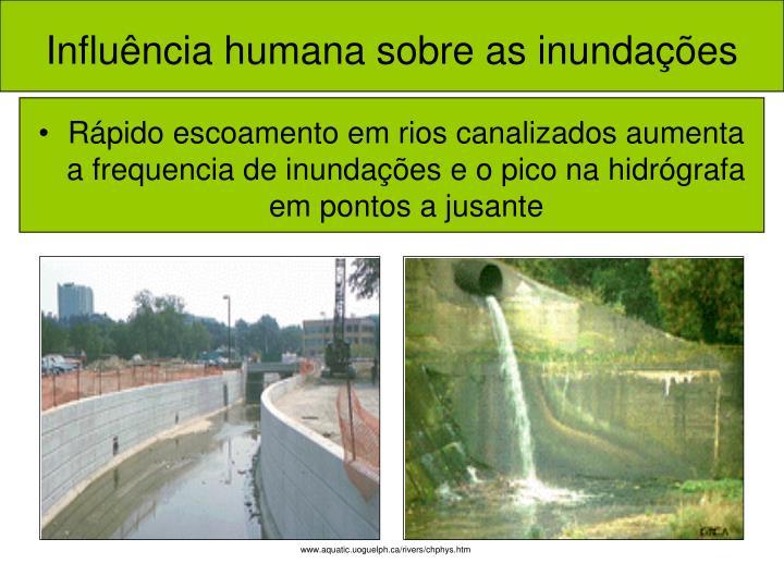 Influência humana sobre as inundações