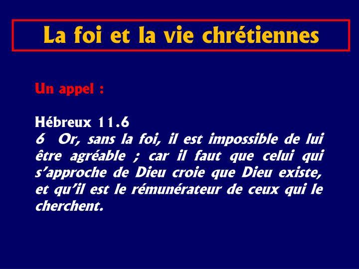 La foi et la vie chrtiennes