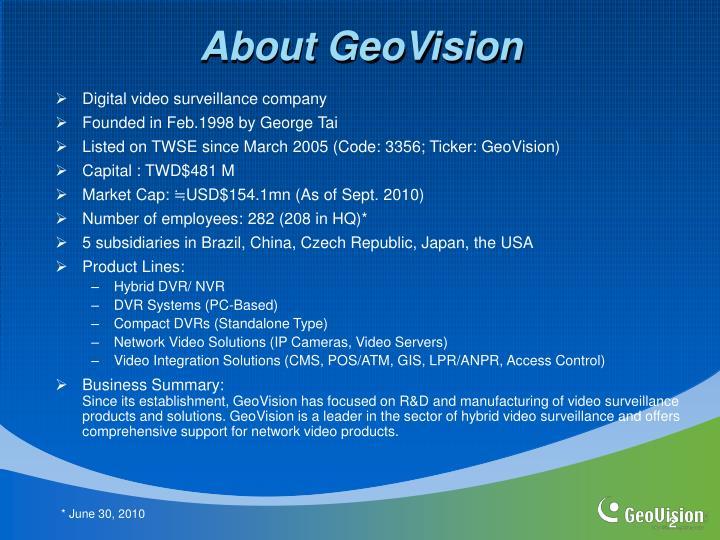 About GeoVision