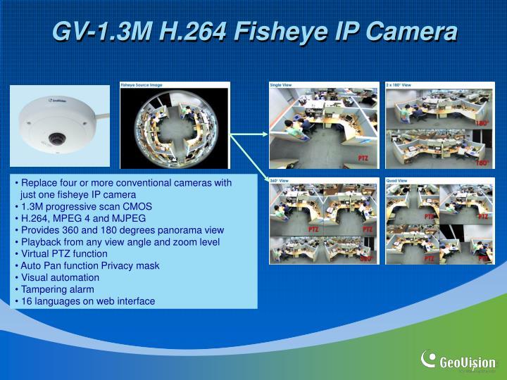 GV-1.3M H.264 Fisheye IP Camera