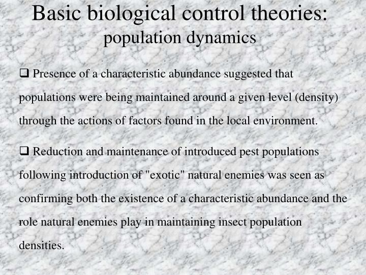Basic biological control theories: