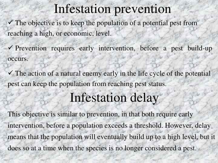Infestation prevention