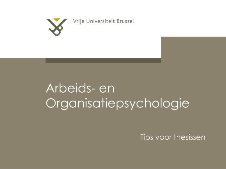 Tips voor thesissen