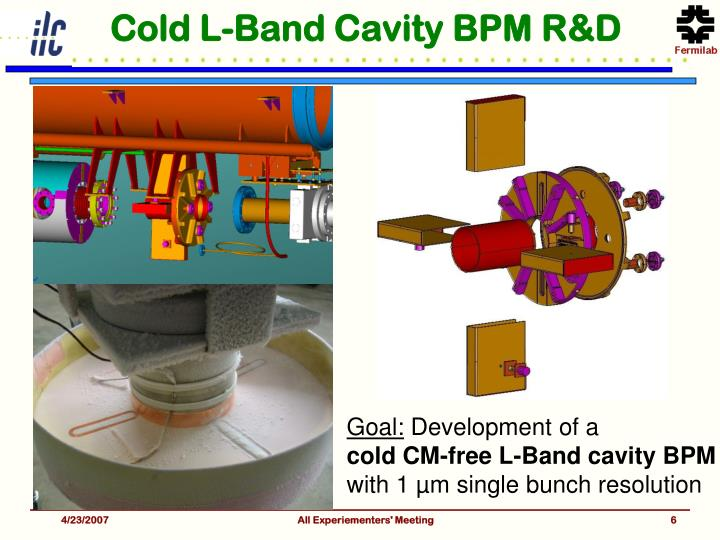 Cold L-Band Cavity BPM R&D
