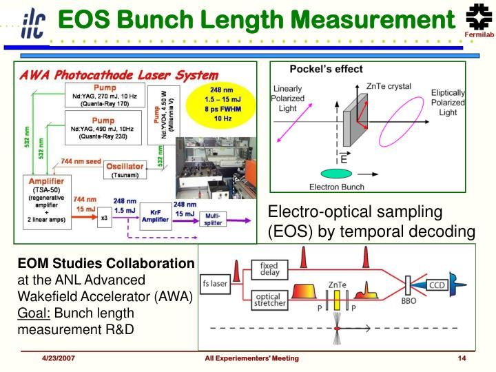EOS Bunch Length Measurement