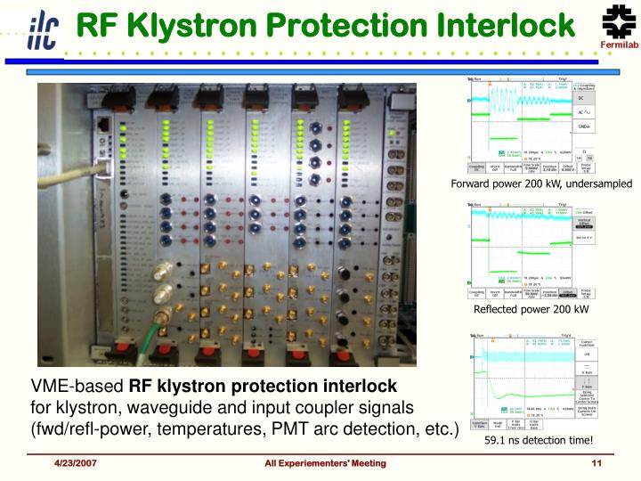 RF Klystron Protection Interlock