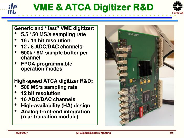 VME & ATCA Digitizer R&D